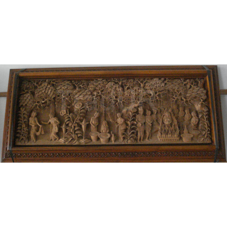 Balinese Wood Relief Carvings - Indonesian Hand Carved Wall Art