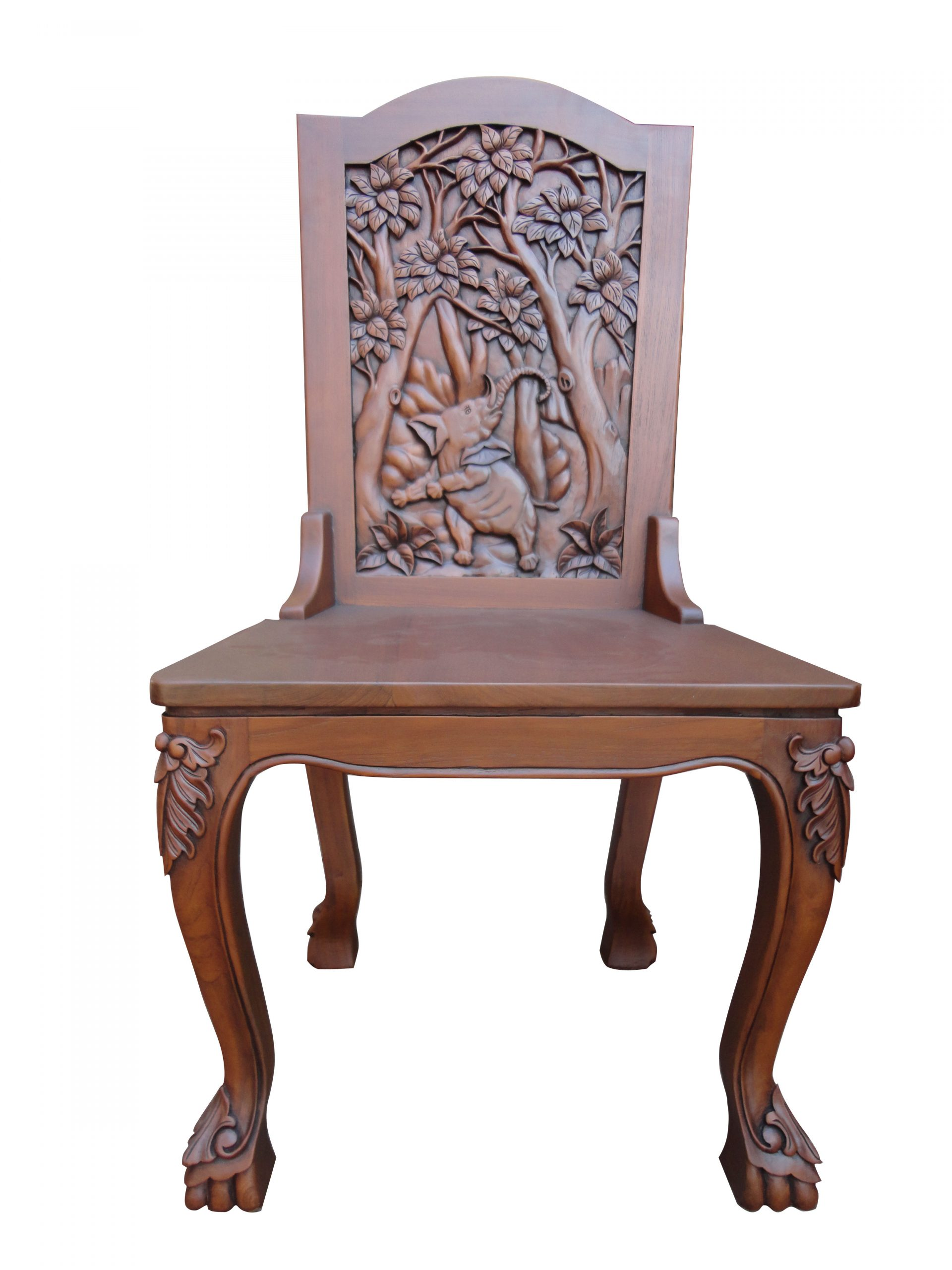 Indonesian Teak Dining Table - Carved Wood Furniture ...